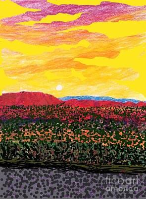 Socal Mixed Media - The Train To Palmdale  by Ishy Christine  Degyansky