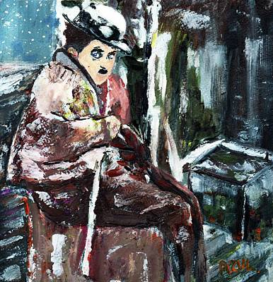 Impresionism Painting - The Tramp by Azul Fam