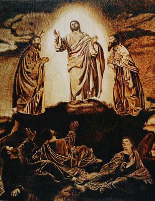 Pirogravura Pyrography - The Transfiguration by Dino Muradian