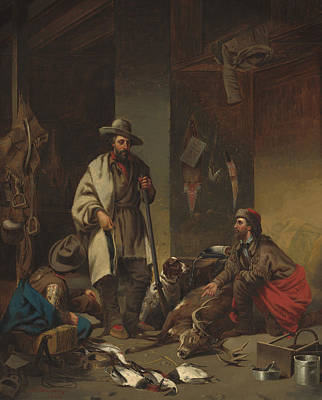 Cabin Interiors Painting - The Trappers by John Mix Stanley