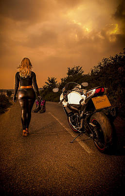 Motorbike Photograph - The Traveler by Paul Neville