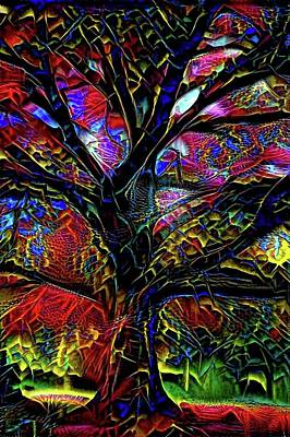 Impressionism Digital Art - The Tree by Lilia D