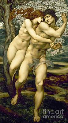 Figures Painting - The Tree Of Forgiveness by Sir Edward Burne-Jones