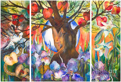 Garden Of Eden Painting - The Tree Of Life by Kate Bedell