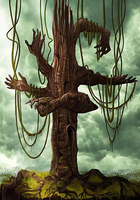 The Tree Of My Endless Selfish Requests - By Diana Van Print by Diana Van