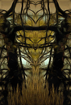 The Tree Triptych Panel 2 Print by Dorothy Berry-Lound