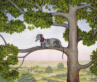 Meadow Painting - The Tree Whippet by Ditz