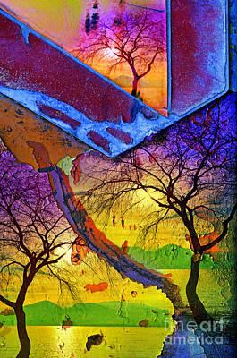 Abstract Beach Landscape Digital Art - The Triplets by Tara Turner