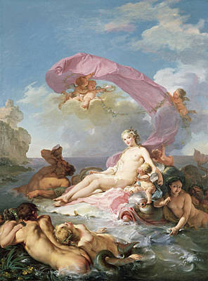 Painting - The Triumph Of Amphitrite by Hugues Taraval