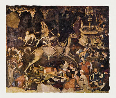 The Triumph Of Death, Medieval Fresco Print by Mehau Kulyk