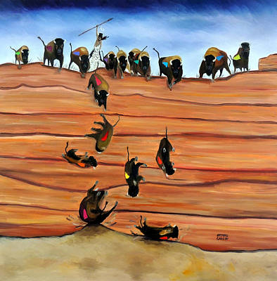 Pishkun--buffalo Jump Original by Arturo Garcia