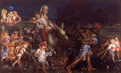 William Holman Hunt Painting - The Triumph Of The Innocents by William Holman Hunt