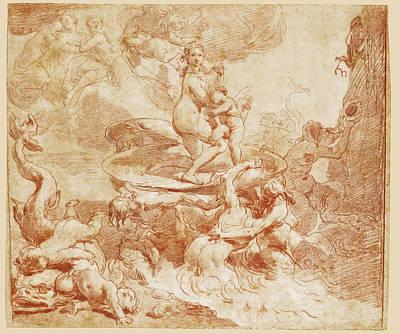 Drawing - The Triumph Of Venus by Gaetano Gandolfi