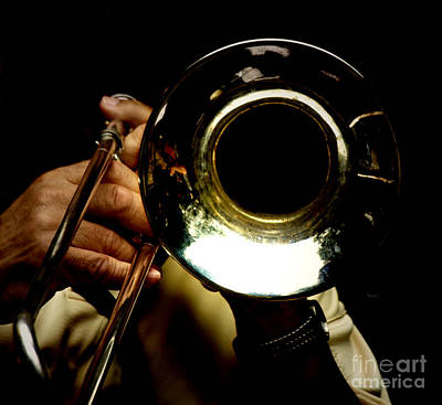 Trombone Digital Art - The Trombone   by Steven  Digman
