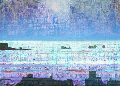 Abstract Seascape Mixed Media - The Turn Of The Tide  by Andy  Mercer