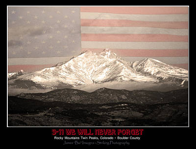 The Twin Peaks - 9-11 Tribute -poster Print by James BO  Insogna