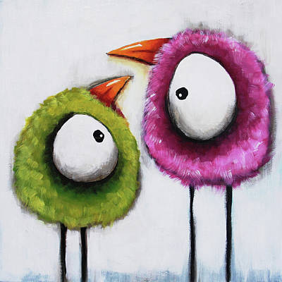 Painting - The Twitters by Lucia Stewart