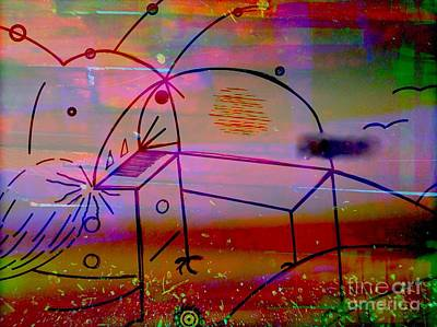 Digital Abstract Drawing - The Two Assistants by LeRoy Banks
