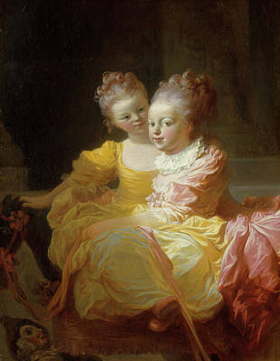 Adolescent Painting - The Two Sisters by Jean-Honore Fragonard