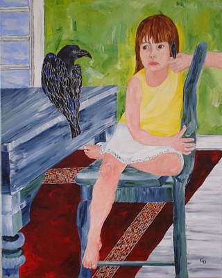 Crows Painting - The Ubiquitous Crow by Georgia Donovan
