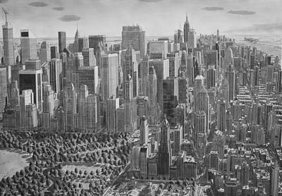 New York City Skyline Drawing - The Ultimate New York City Drawing by Stefan Bleekrode