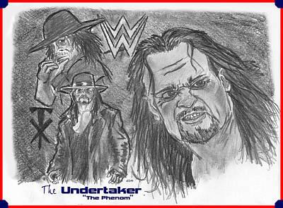 The Undertaker Print by Chris  DelVecchio