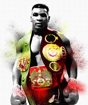 Muhammad Ali Art Painting - The Undisputed Heavyweight Champion Of The World by Diana Van