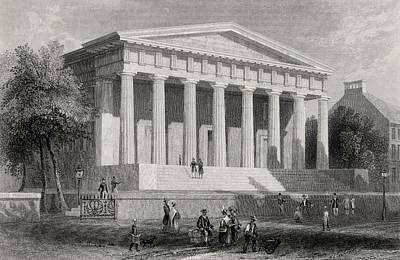Philadelphia History Drawing - The United States Bank Philadelphia Usa by Vintage Design Pics