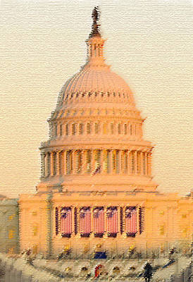 Washington D.c Digital Art - The United States Capitol by Julie Niemela
