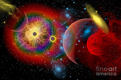 Planetary System Digital Art - The Universe In A Perpetual State by Mark Stevenson