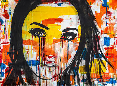 Crying Drawing - The Unseen Emotions Of Her Innocence by Bruce Stanfield