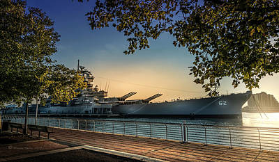 The Uss New Jersey Print by Marvin Spates