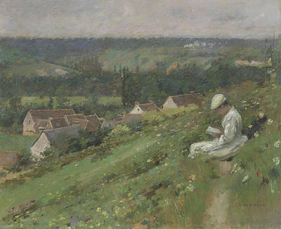 The Valley Of Arconville Print by Theodore Robinson