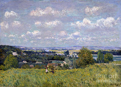 Field. Cloud Painting - The Valley Of The Seine At Saint Cloud by Alfred Sisley