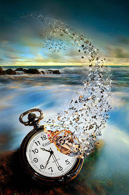 Manipulation Photograph - The Vanishing Time by Sandy Wijaya