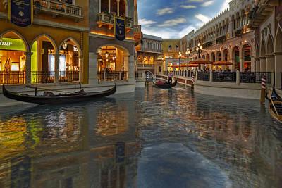 New York City Photograph - The Venetian Las Vegas Gondolas by Susan Candelario