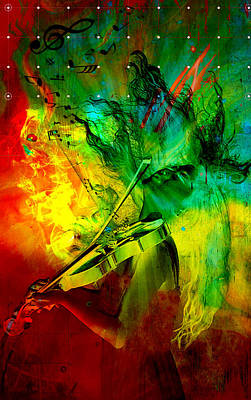 Violin Digital Art - The Vibe Violin by Greg Sharpe