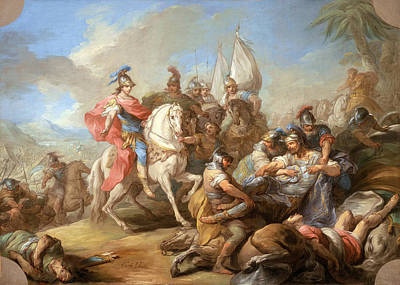 Charles-andre Van Loo Painting - The Victory Of Alexander Over Porus by Charles-Andre van Loo