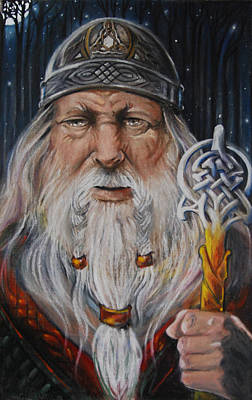 Rollo Drawing - The Viking Thorfin Rollo by Ron Cantrell