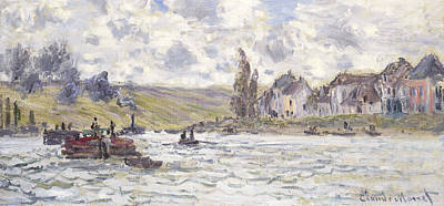Boating On The Seine Painting - The Village Of Lavacourt by Claude Monet