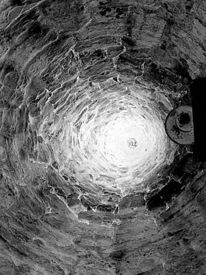 The Village Well Monochrome Print by Martine Murphy