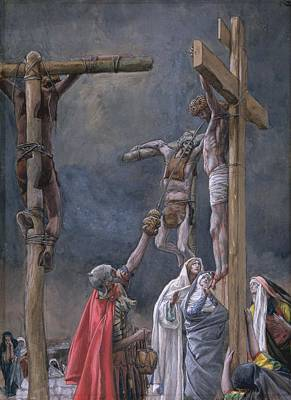 The Vinegar Given To Jesus Print by Tissot