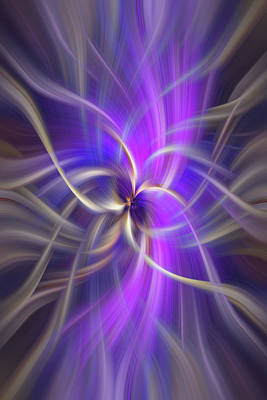 The Violet Flame. Spirituality Print by Jenny Rainbow