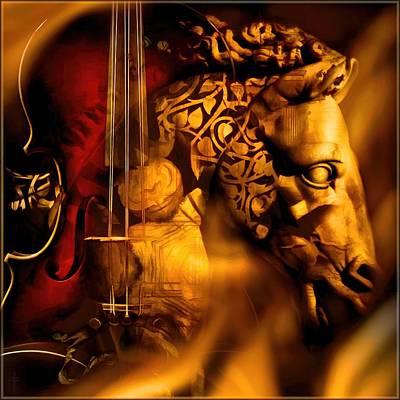 The Violin Horse  Original by Daniel  Arrhakis