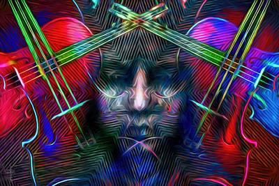 Vivid Colors Photograph - The Violinist  by Daniel  Arrhakis
