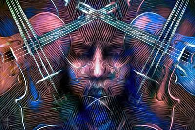 The Violinist Dual Tone   Original by Daniel  Arrhakis
