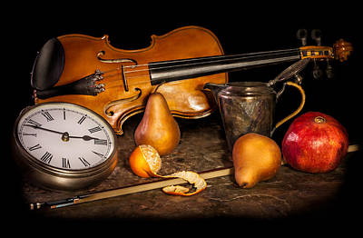 Pause Photograph - The Violinist's Break by Maggie Terlecki