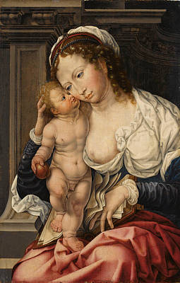 Painting - The Virgin And Child by Studio of Jan Gossaert