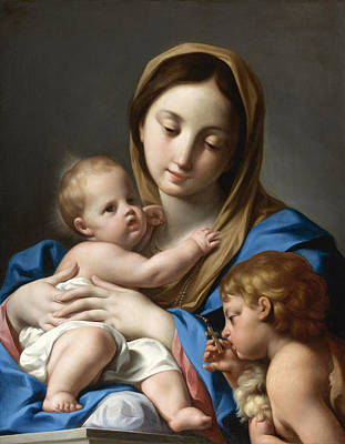 Painting - The Virgin And Child With Saint John The Baptist by Attributed to Andrea Casali
