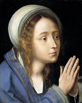 Quentin Matsys Painting - The Virgin In Prayer by Quentin Matsys